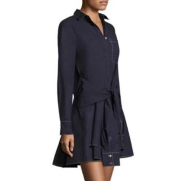 8b07db58505a71 10 Crosby Derek Lam Dresses & Skirts - DEREK LAM 10 CROSBY Poplin Shirt  Dress Tie